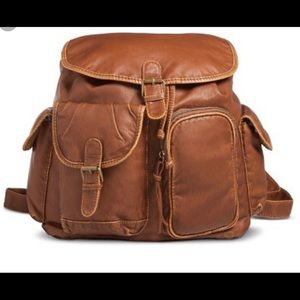 Mossimo Supply Co.  Brown Vegan Leather Backpack